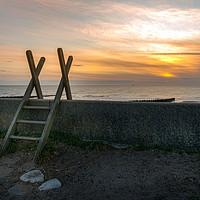 Buy canvas prints of Fleetwood Sunset by Alan Duggan