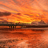 Buy canvas prints of Under the fire sky. by paul cobb