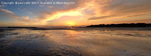 Sunset on the banks Framed Print by paul cobb