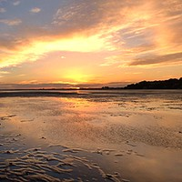 Buy canvas prints of Sunset on the banks by paul cobb
