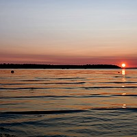 Buy canvas prints of Evening view. by paul cobb