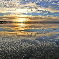 Buy canvas prints of Sunset reflections. by paul cobb