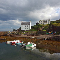 Buy canvas prints of St Abbs Harbour, Scotland, UK by Malgorzata Larys