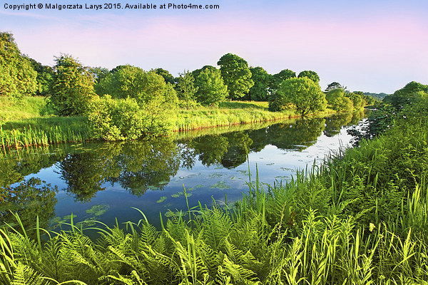 Forth and Clyde Canal, Scotland Canvas Print by Malgorzata Larys
