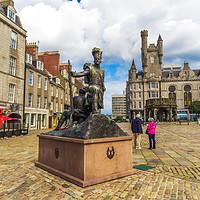 Buy canvas prints of Gordon Highlanders Statue, Castlegate, Aberdeen, S by Malgorzata Larys