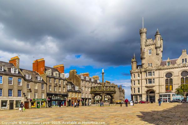 Castlegate in the city centre,  Aberdeen, Scotland Canvas print by Malgorzata Larys