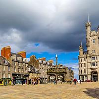 Buy canvas prints of Castlegate in the city centre,  Aberdeen, Scotland by Malgorzata Larys