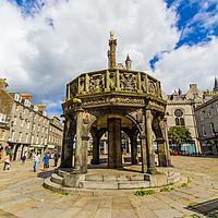 Buy canvas prints of Aberdeen City Mercat Cross in the Castlegate, Scot by Malgorzata Larys