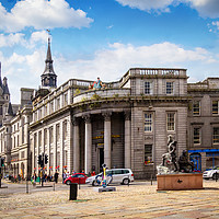 Buy canvas prints of Aberdeen, historic architecture, Town House,  Scot by Malgorzata Larys