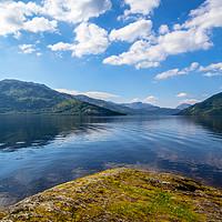 Buy canvas prints of Loch Lomond at rowardennan, Summer in Scotland, UK by Malgorzata Larys