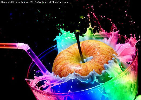 Apple Splash Canvas print by john Sprague