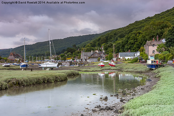 Porlock Weir Canvas print by David Rowlatt