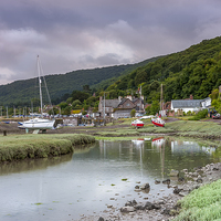Buy canvas prints of  Porlock Weir by David Rowlatt