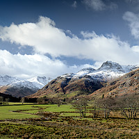 Buy canvas prints of The Langdales by Dave Rowlatt