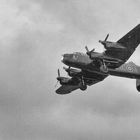 Buy canvas prints of  Lancaster Bomber by Ian Young
