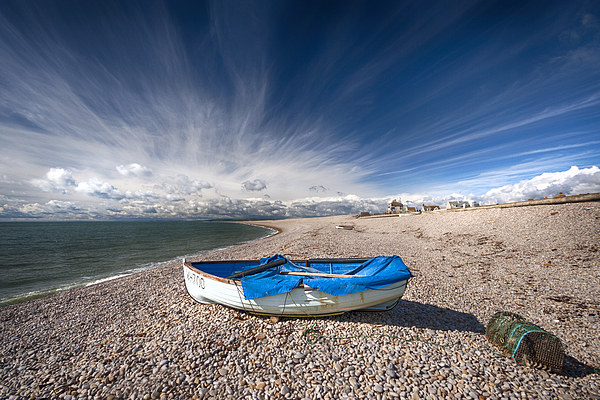 Chesil Boat Canvas print by Mark Godden