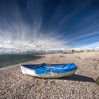 Buy canvas prints of  Chesil Boat by Mark Godden