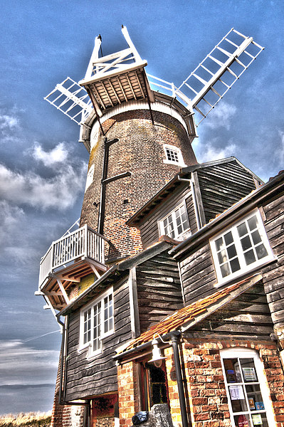 The Windmill at Cley Framed Mounted Print by Graham Thomas