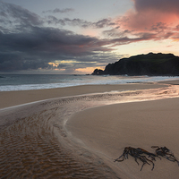 Buy canvas prints of  Dhail Mor, Isle of Lewis, sunset by Scott Robertson