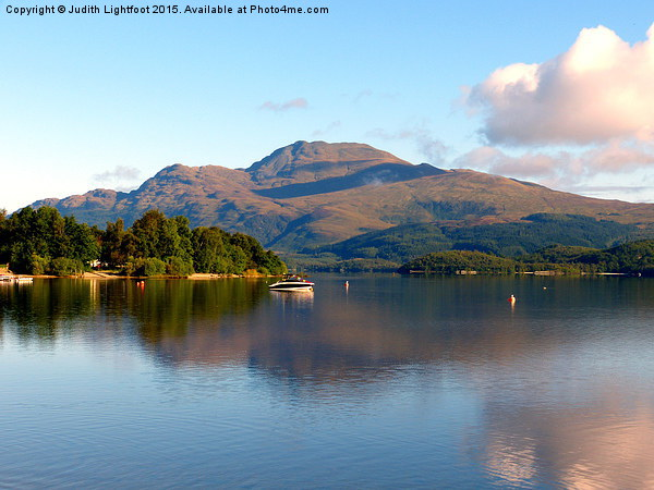 The peacful tranquility of Loch Lomond Canvas print by Judith Lightfoot