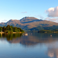 Buy canvas prints of The peacful tranquility of Loch Lomond by Judith Lightfoot