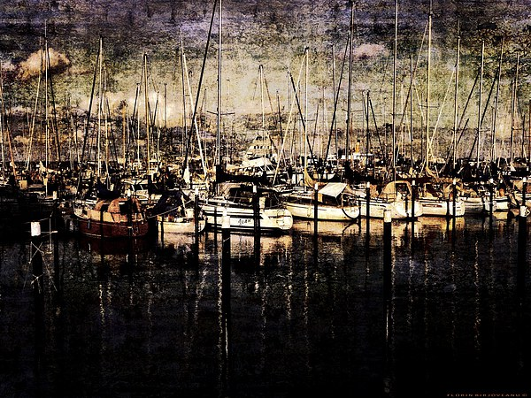 Front at Pier Texture Canvas print by Florin Birjoveanu