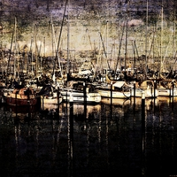 Buy canvas prints of  Front at Pier Texture by Florin Birjoveanu