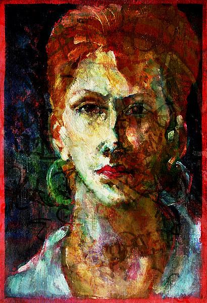 Placid Face Painting & Texture Canvas print by Florin Birjoveanu