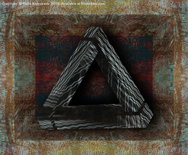 Triangle Texture Canvas print by Florin Birjoveanu