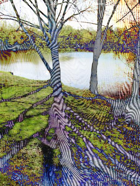 Through The Trees Pattern Canvas print by Florin Birjoveanu