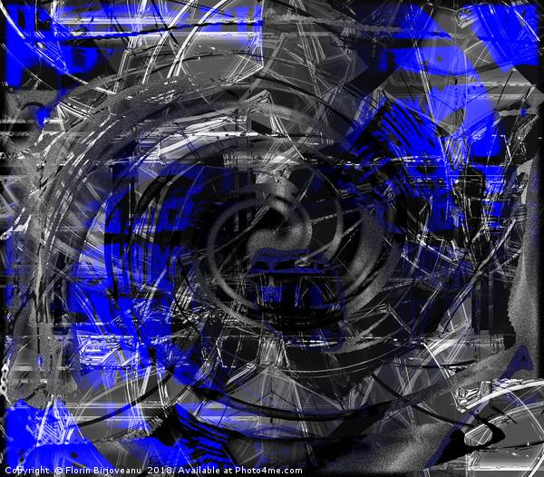 Blue White Arising  Canvas Print by Florin Birjoveanu