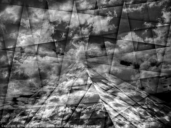 Scaffold Of Time Black And White Canvas Print by Florin Birjoveanu