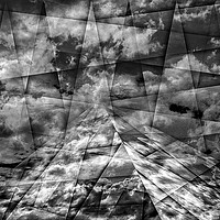 Buy canvas prints of Scaffold Of Time Black And White by Florin Birjoveanu
