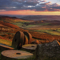 Buy canvas prints of  Sunset Colours over the Millstones by John Cropper