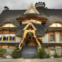 Buy canvas prints of  Polish Mountain House by Patrycja Polechonska