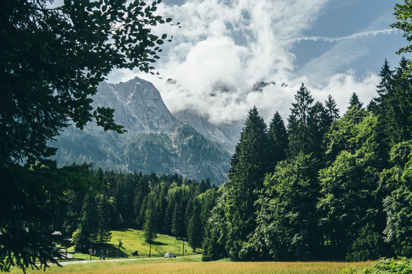 Zugspitze In Clouds Canvas print by Patrycja Polechonska
