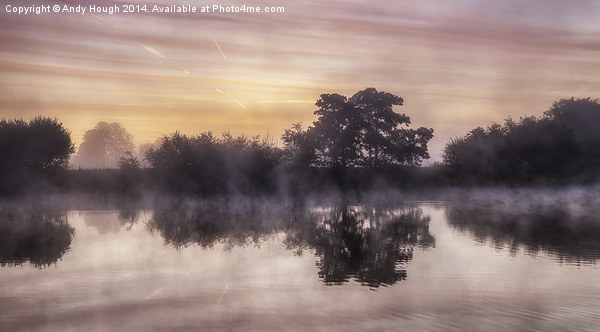 River Thames Dawn Canvas Print by Andy Hough