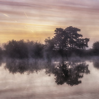 Buy canvas prints of  River Thames Dawn by Andy Hough