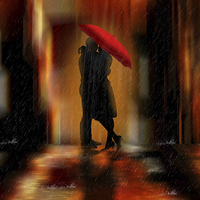 Buy canvas prints of A deluge of love fantasy love and romance by Tanya Hall