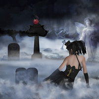 Buy canvas prints of Gothica - Gothic Digital Oil Painting by Tanya Hall