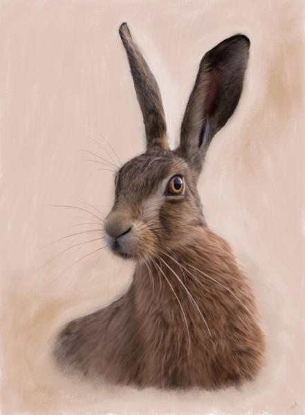 Hare - Eostre - The Hare Goddess Canvas Print by Tanya Hall
