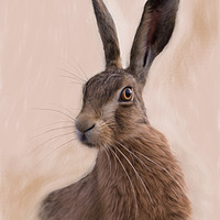 Buy canvas prints of Hare - Eostre - The Hare Goddess by Tanya Hall
