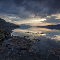 Buy canvas prints of  Loch Duich at Eileen Donan by David Hirst