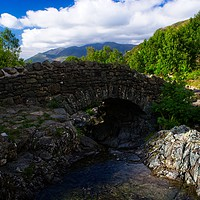 Buy canvas prints of Ashness bridge by tom downing