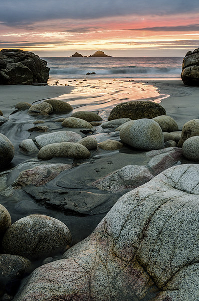 Porth Nanven Sunset Canvas print by Robert Small