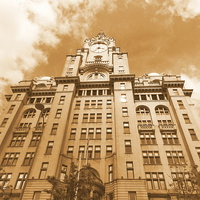 Buy canvas prints of  Liver Building Liverpool by Tim Smith