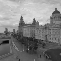 Buy canvas prints of  Liverpool Cityscape by Tim Smith