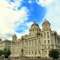 Buy canvas prints of  Liverpool liver building by Tim Smith