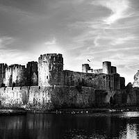 Buy canvas prints of Caerphilly Castle  by paul holt