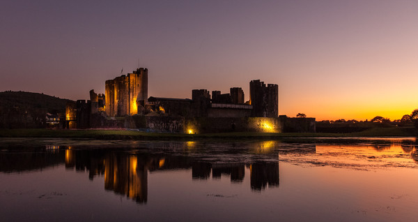 Caerphilly castle  Canvas print by paul holt